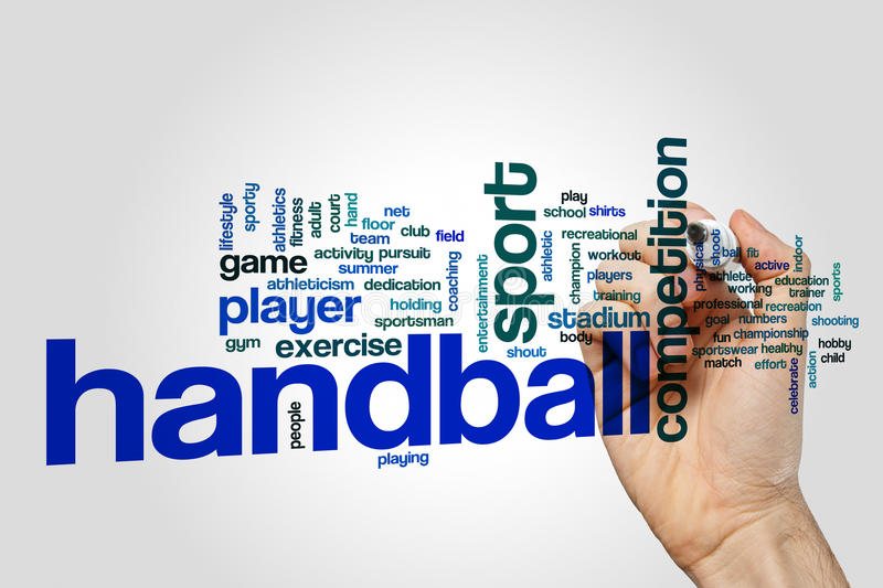 Handball word cloud concept royalty free stock photo