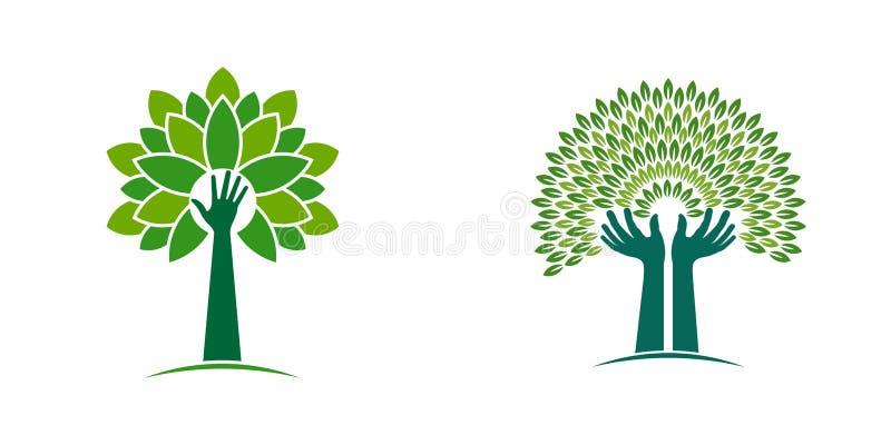 Handbaum für Öko-Lebens-Art vektor abbildung