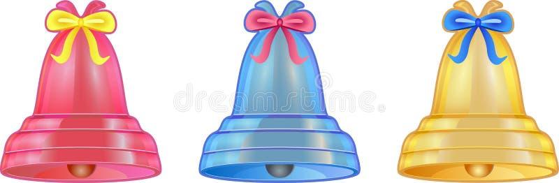 Handbell coloreado imágenes de archivo libres de regalías