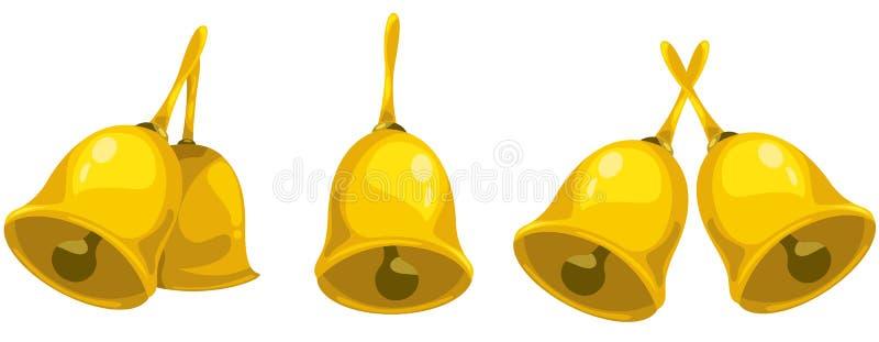 Handbell do ouro ilustração do vetor