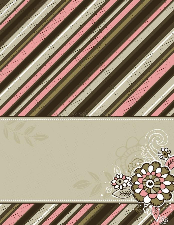 Handbetragblumen auf braunem grunge Hintergrund vektor abbildung