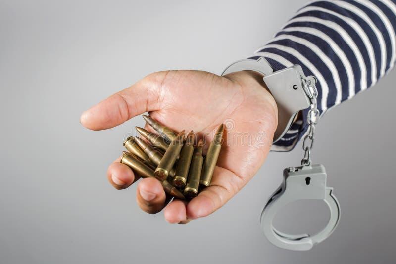 Handbojor och ammunitionar royaltyfria foton