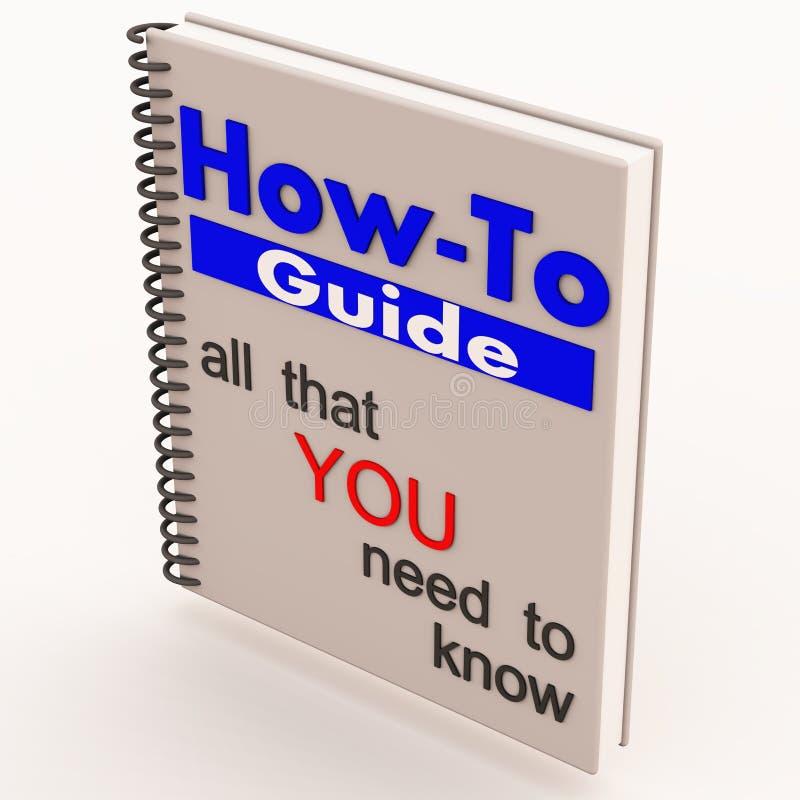 handbok hur till white stock illustrationer