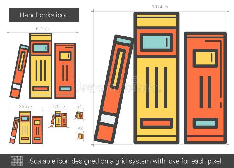 Handbokslinje symbol vektor illustrationer