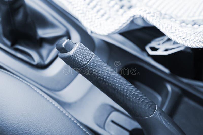 Handbrake do carro imagens de stock