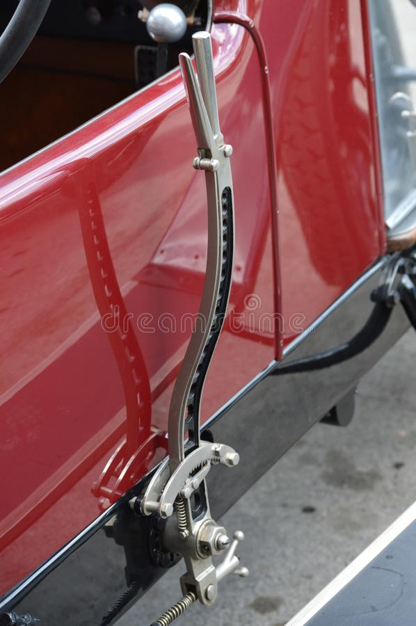 Handbrake no veículo do vintage fotos de stock