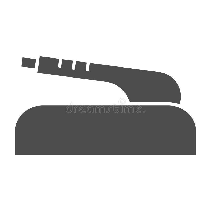Handbremsfeste Ikone Autoteil-Vektorillustration lokalisiert auf Wei? Kupplungsbremseglyphartentwurf, bestimmt f?r Netz stock abbildung