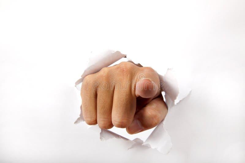 Handbruch durch das Weißbuch stockfoto