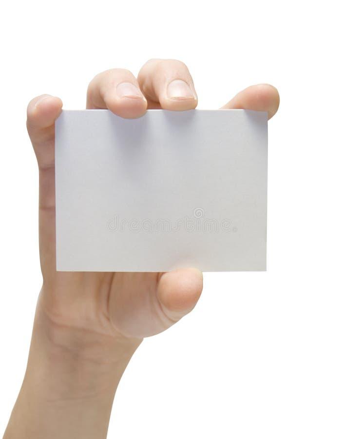 handcard 图库摄影