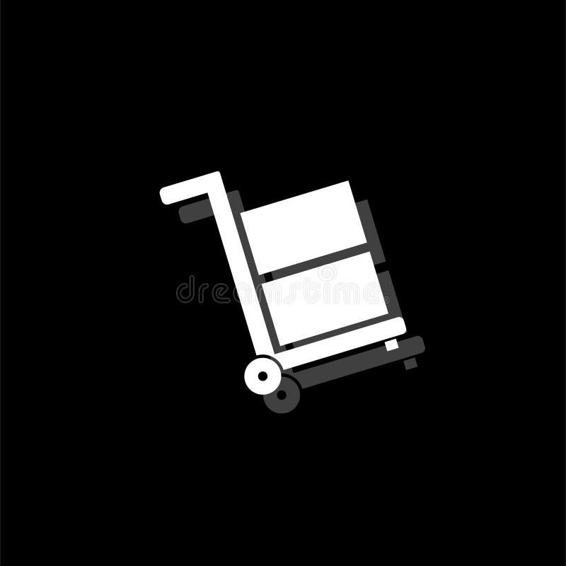 Handcart ikony mieszkanie ilustracja wektor