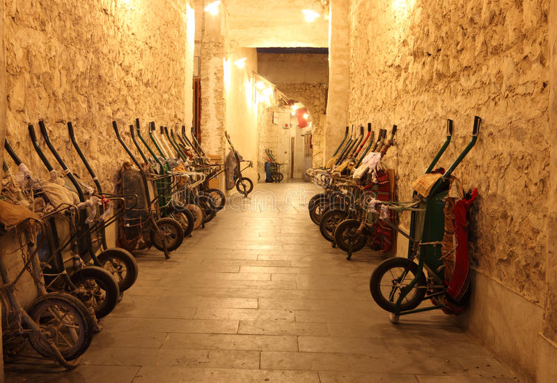 Download Handcarts In Souq Waqif, Doha Royalty Free Stock Photography - Image: 23002237