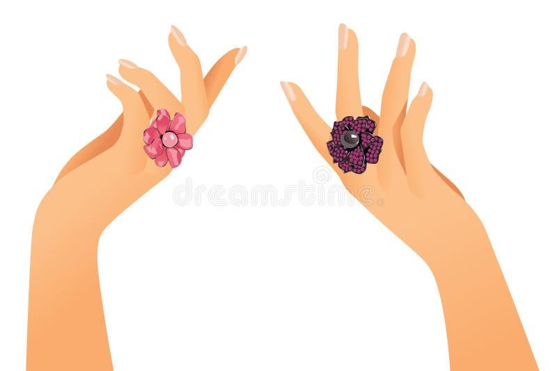 handcirklar stock illustrationer