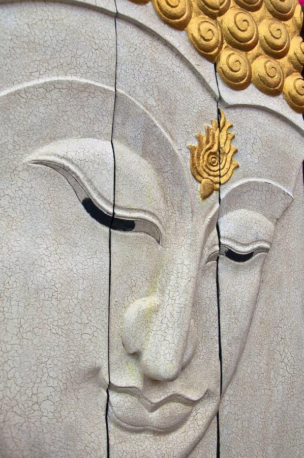 Handcraft com a face branca de Buddha fotografia de stock