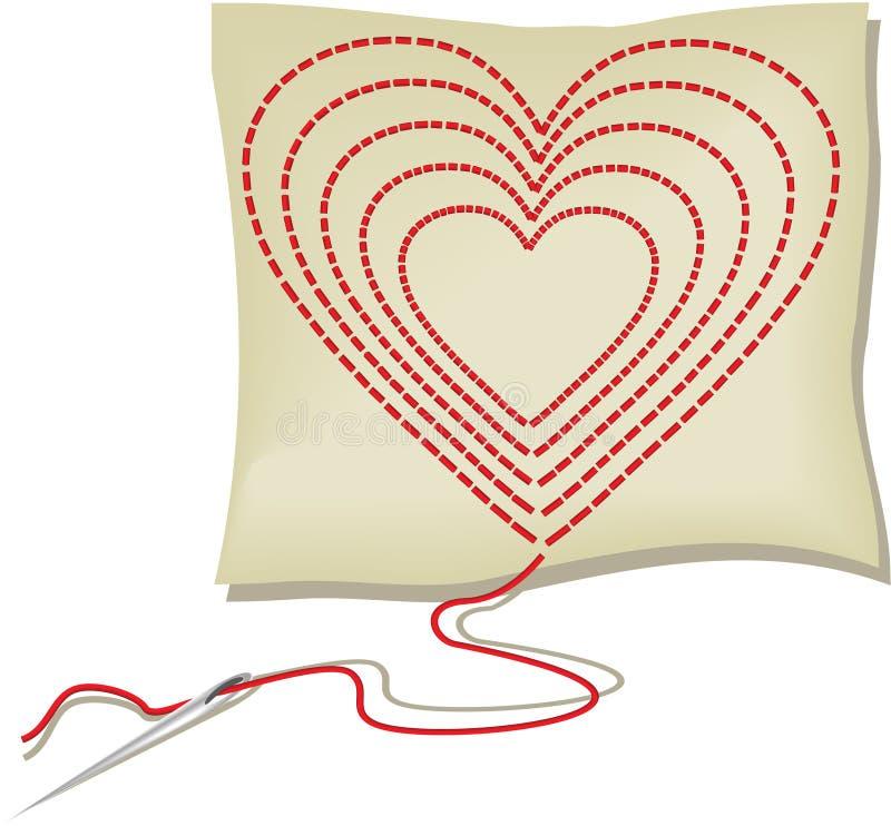 Download Handcraft heart stock vector. Image of color, handcraft - 12125800