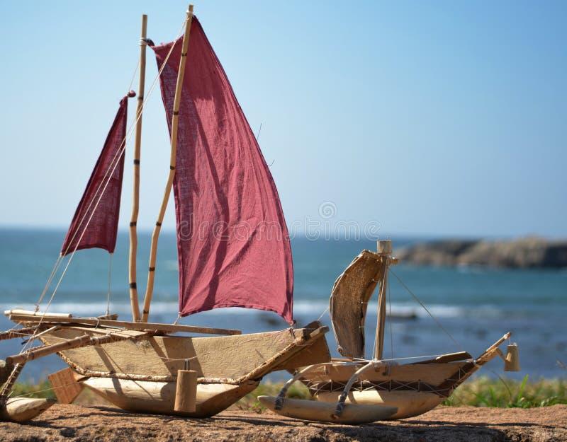 Handcraft le catamaran de bateau images stock
