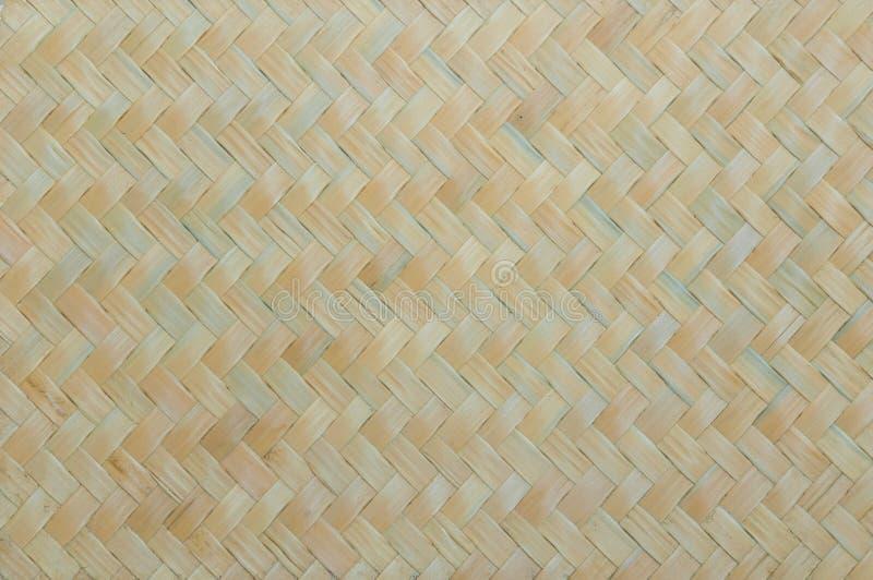 Handcraft le fond en bambou naturel de mur de texture d'armure photographie stock libre de droits