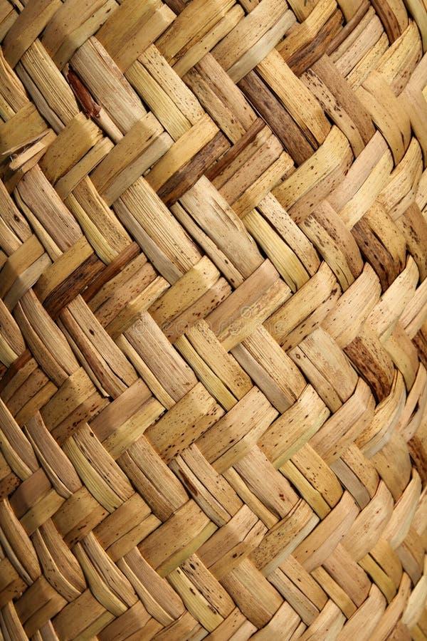 Handcraft a textura vegetal do basketry mexicano do bastão fotos de stock royalty free