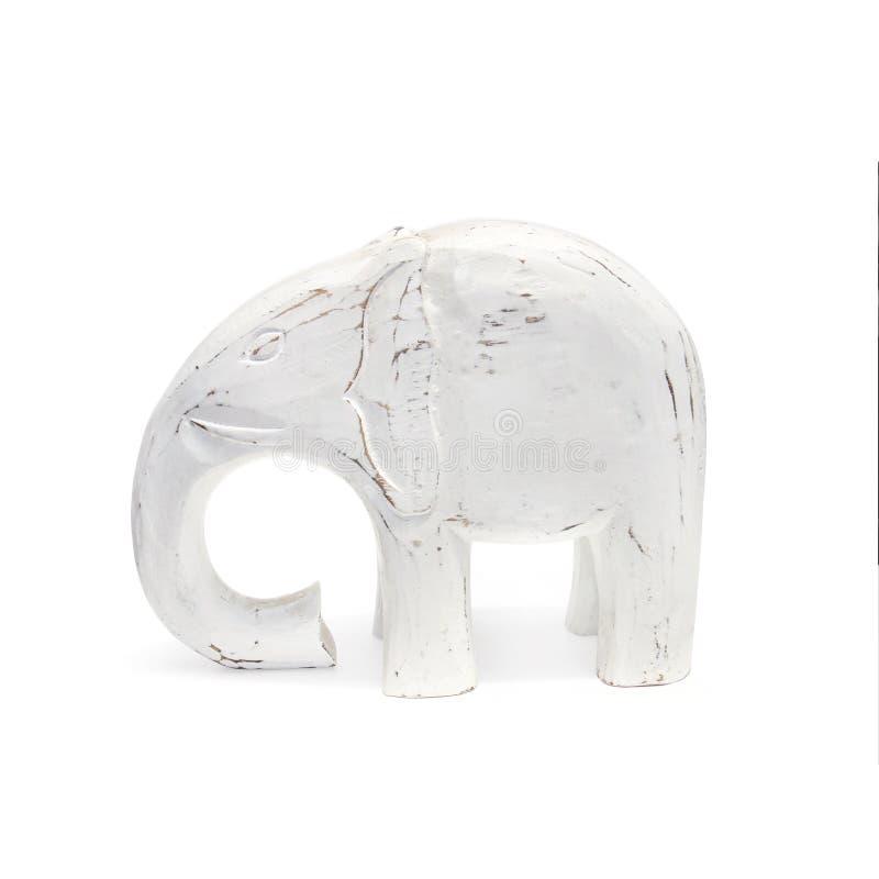 Handcraft wood elefantskulptur arkivfoton