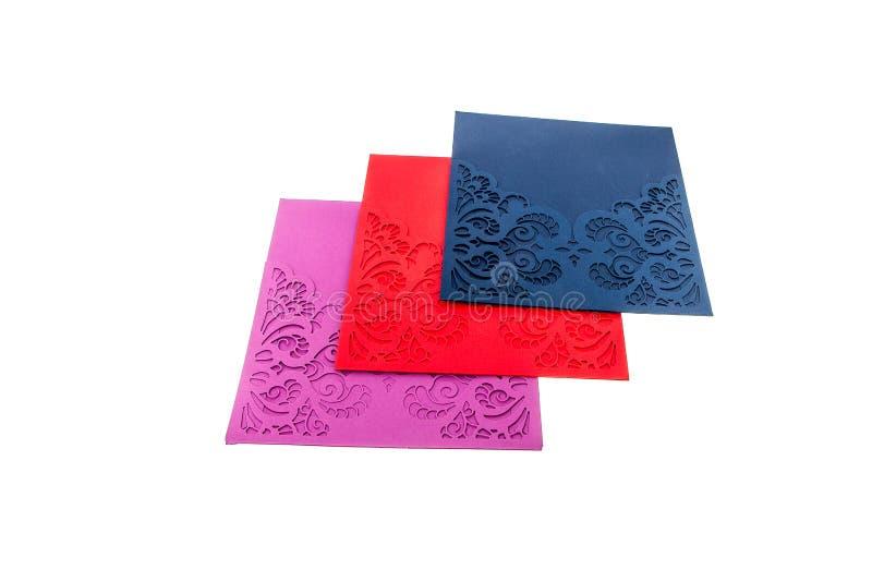 Handcrafted карточка подарка отрезала из multicolor дизайнерской бумаги стоковое изображение rf