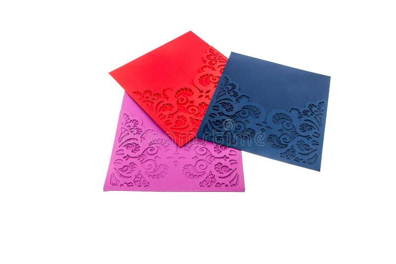 Handcrafted карточка подарка отрезала из multicolor дизайнерской бумаги стоковое фото