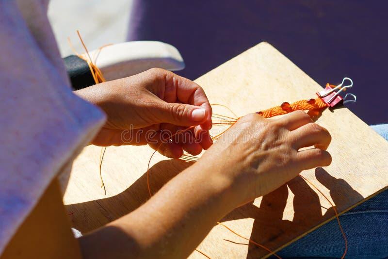 Handcrafted творение пояса стоковая фотография