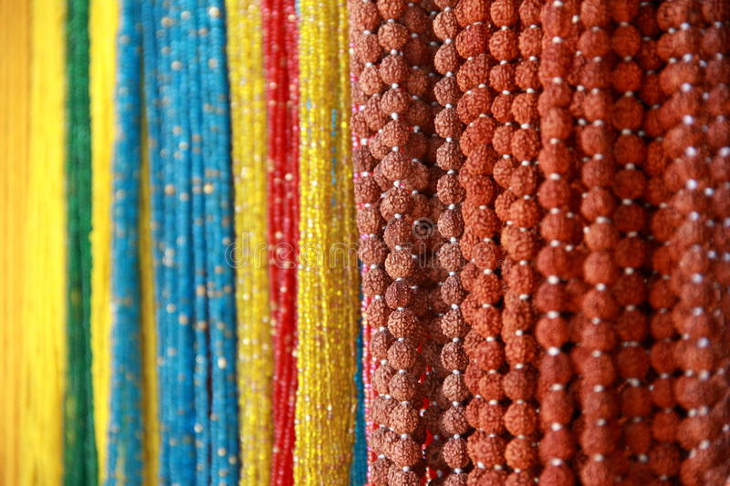 Handcrafted beads. royalty free stock photo