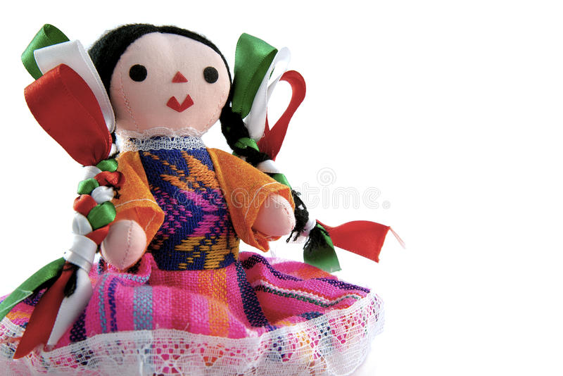 Handcrafted meksykańska lala Maria zdjęcie stock