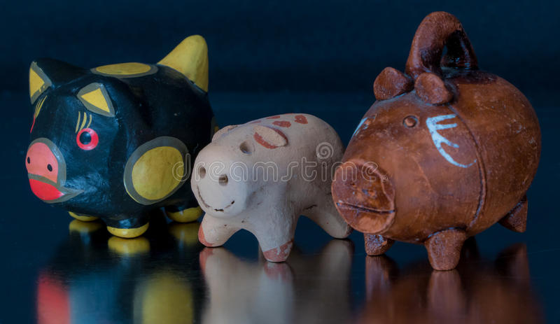 Handcrafted mexican toys royalty free stock photos