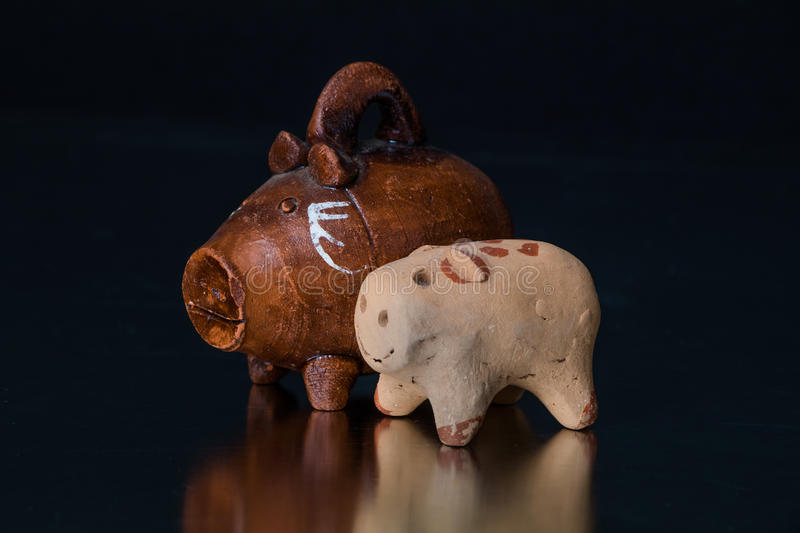 Handcrafted mexican toys stock photo