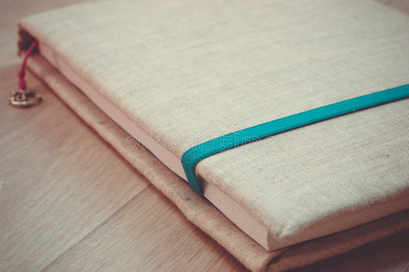 Handcrafted notebook royalty free stock photos