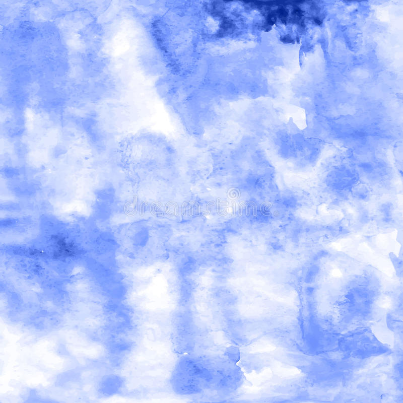 Handcrafted watercolor painting colored abstract backdrop fo stock illustration