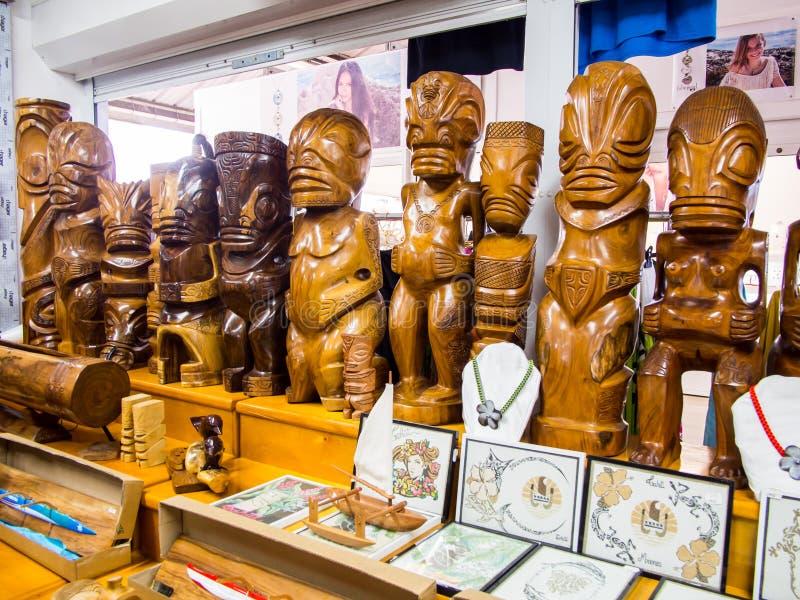 Handcrafts στη δημοτική αγορά Papeete, Ταϊτή, γαλλική Πολυνησία στοκ φωτογραφίες με δικαίωμα ελεύθερης χρήσης