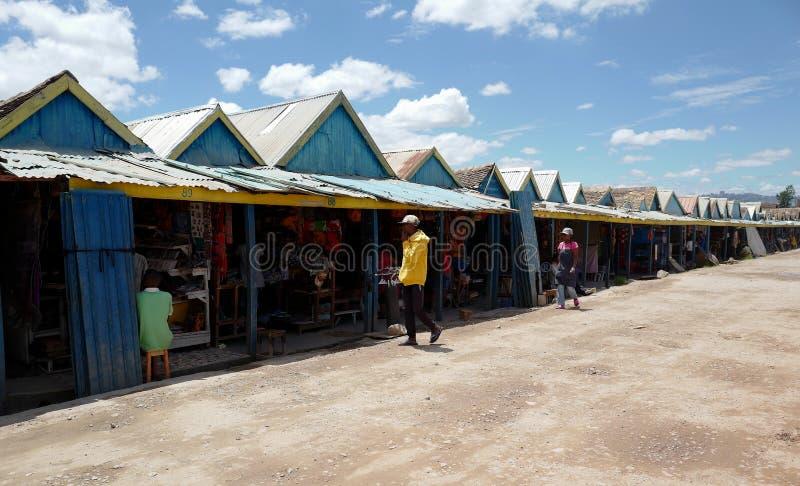 Handcrafts marknader i Antananarivo, Madagascar fotografering för bildbyråer