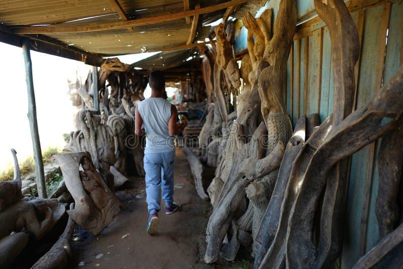 Handcrafts marknader i Antananarivo, Madagascar arkivbilder