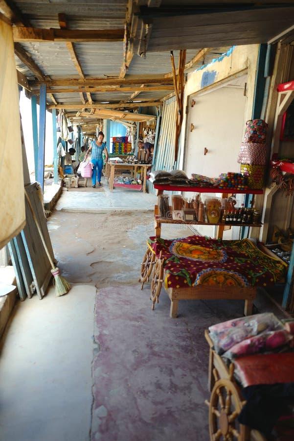 Handcrafts marknader i Antananarivo, Madagascar arkivfoto