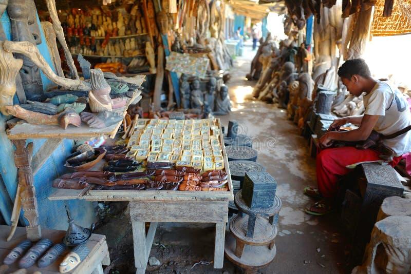Handcrafts marknader i Antananarivo, Madagascar royaltyfri foto