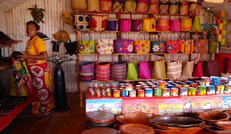 Handcrafts marknader i Antananarivo, Madagascar royaltyfri bild