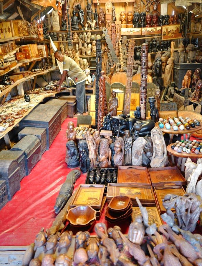 Handcrafts marknader i Antananarivo, Madagascar royaltyfri fotografi