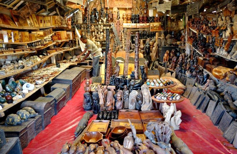 Handcrafts marknader i Antananarivo, Madagascar royaltyfria foton