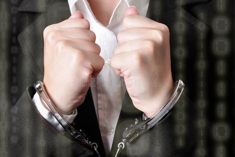 handcuffed foto de archivo libre de regalías