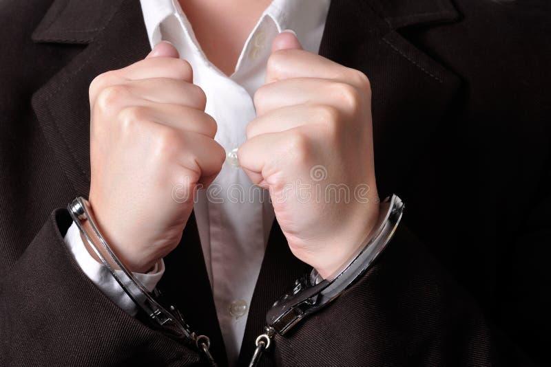 handcuffed στοκ φωτογραφία