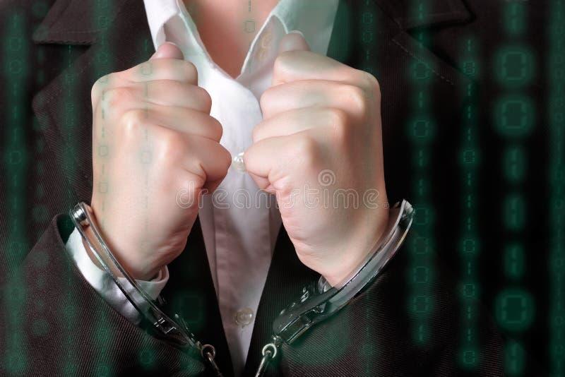 handcuffed στοκ εικόνα με δικαίωμα ελεύθερης χρήσης