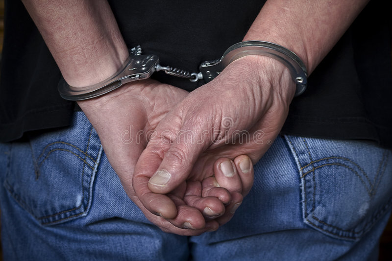Download Handcuffed stock image. Image of rear, shirt, white, security - 8417061