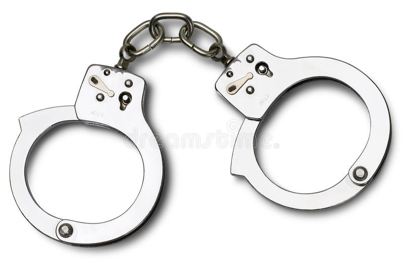 Handcuffs royalty free stock photography