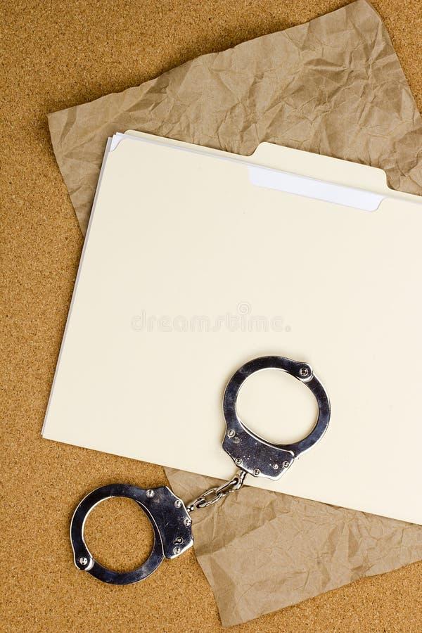 Handcuffs en Omslag royalty-vrije stock foto's