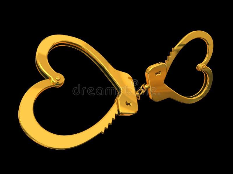 Handcuffs-heart stock illustration