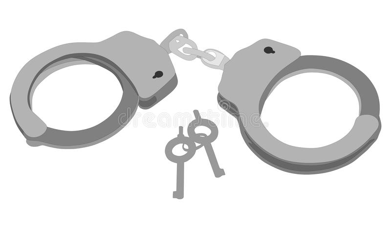 handcuffs A polícia prende a ferramenta Brinquedo sexual do jogo ilustração royalty free
