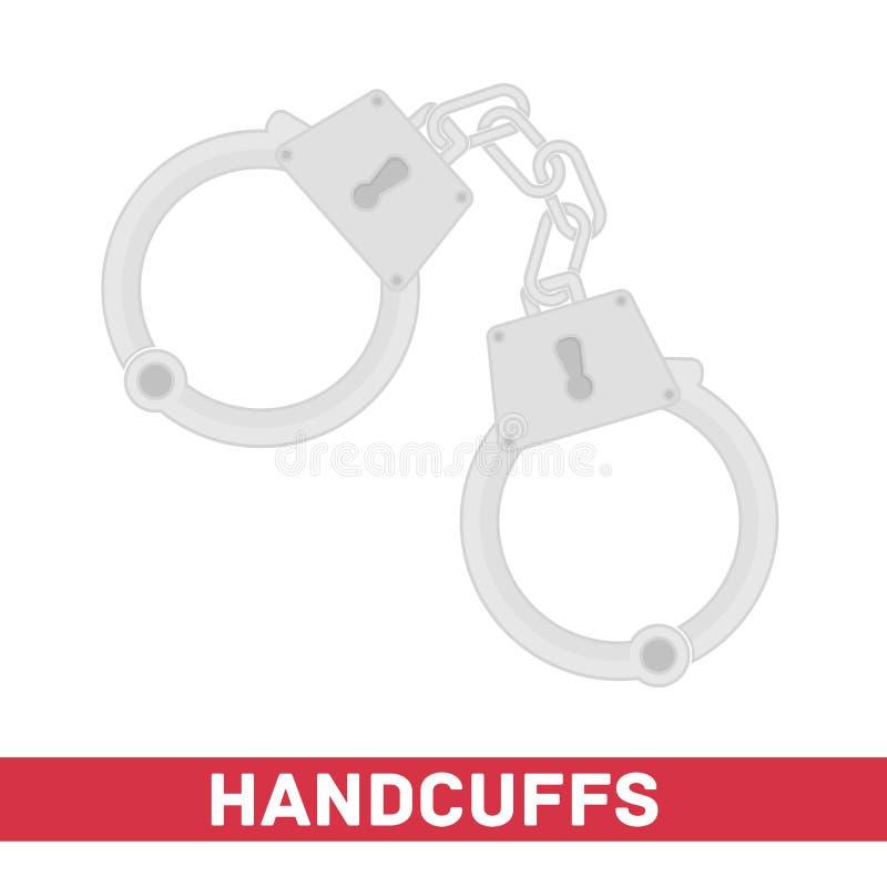 Handcuffs vector royalty-vrije illustratie