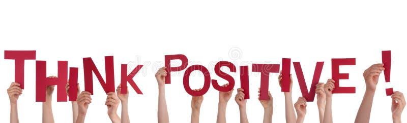 Handdas halten denken Positiv stockbild