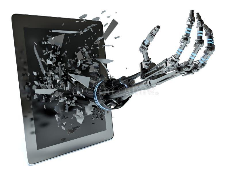 Handdaten und Tabletten-PC vektor abbildung